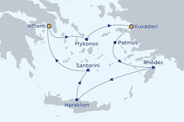 4 Day Greek Island Cruise Iconic Aegean Santorini Mykonos
